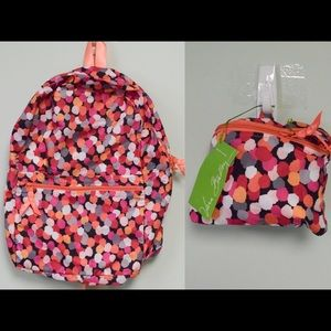 Vera Bradley Foldable Backpack in a Pouch